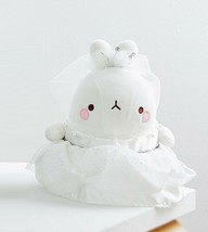 Molang Wedding Dress Stuffed Animal Rabbit Plush Toy 10.2 inches image 2