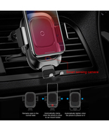 Qi Car Fast Wireless Charger Intelligent Infrared Charging Car Phone Holder - £27.29 GBP+