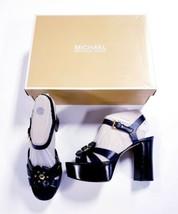 New Michael Kors Tara Platform Dress Shoes Sandals Admiral Blue Flower S... - $80.98
