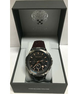 Vince Camuto VC/1111DGSG Men's Chronograph Stainless w/ Leather Strap Watch - $96.66