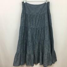 Ralph Lauren Skirt Denim Long A Line Modest  No Slit Size 8 New NWT - $34.99