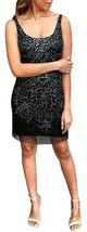 Adrianna Papell New Womens Black Sleeveless Embellished Mesh Tank Dress   12 - $88.11