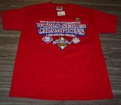 PHILADELPHIA PHILLIES MLB WORLD SERIES CHAMPIONS T-Shirt YOUTH MEDIUM 10... - $16.34