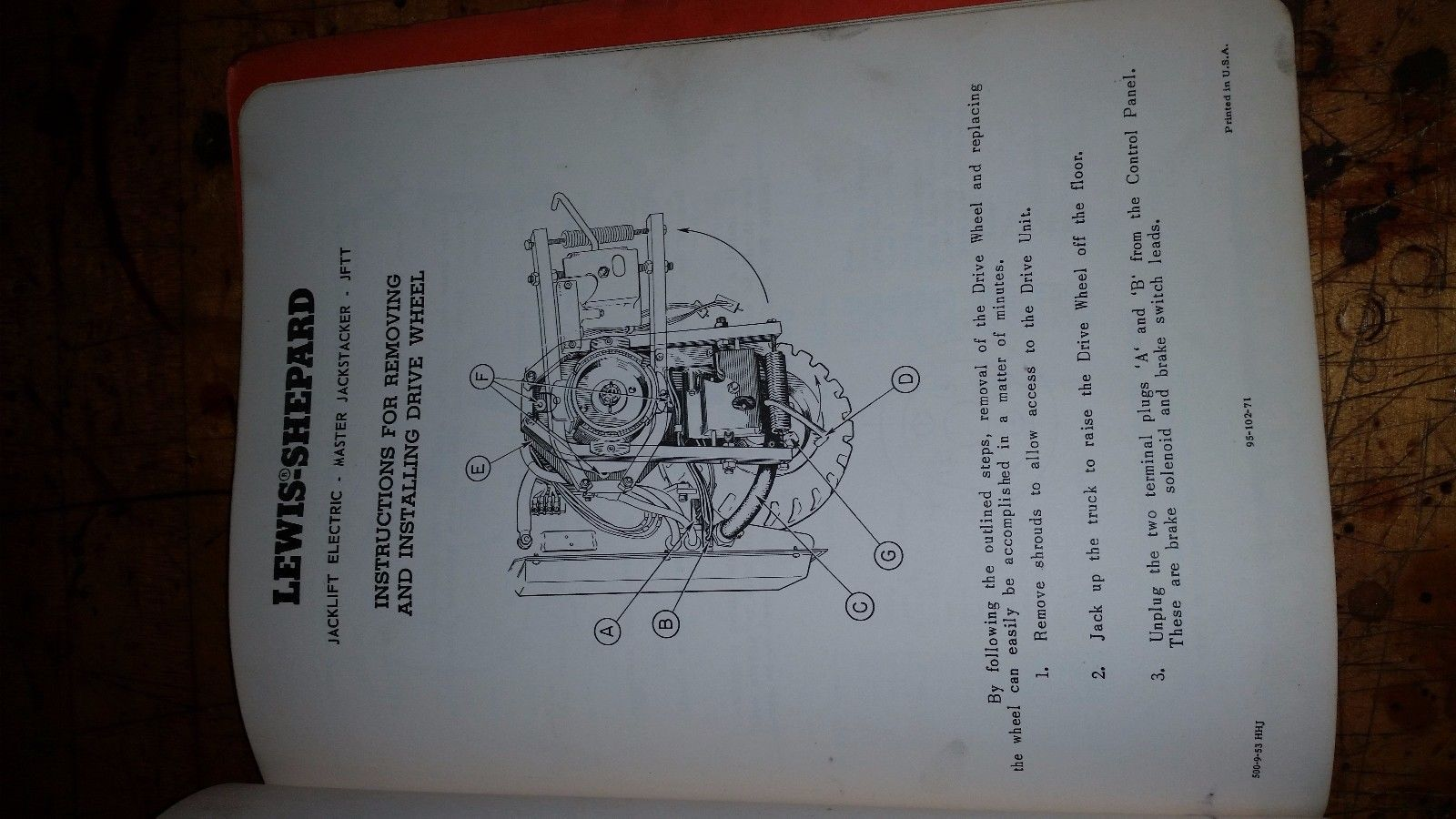 LEWIS SHEPARD JACKLIFT ELECTRIC MASTER JACKSTACKER JFTT MANUAL