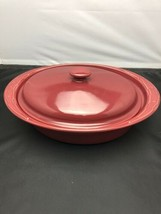 Longaberger Pottery 3Qt Traditional Red Oval Casserole Dish/Roaster Bake... - $59.35