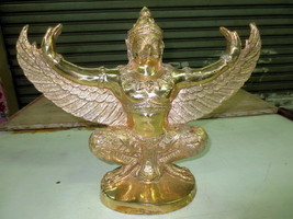 SO Big RARE! Ancient Gold Paya Krut Top Powerful Statue Thai Buddha Amulets - $99.99
