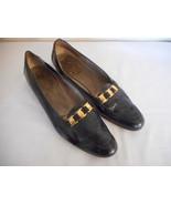 Salvatore Ferragamo Sz 7.5 4 A Black patent leather Loafers - $14.84
