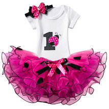 An item in the Baby category: Baby First Party Christening Gown Dots 1 Year 2 Years Birthday Outfits Infant Pa
