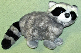 "AURORA BANDIT RACCOON STUFFED ANIMAL 18"" NOSE TO TAIL GREY BLACK STRIPES... - $21.78"