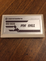 COMMODORE VIC 20 Pinball Spectacular Pin Ball tested game cartridge VIC-... - $4.79