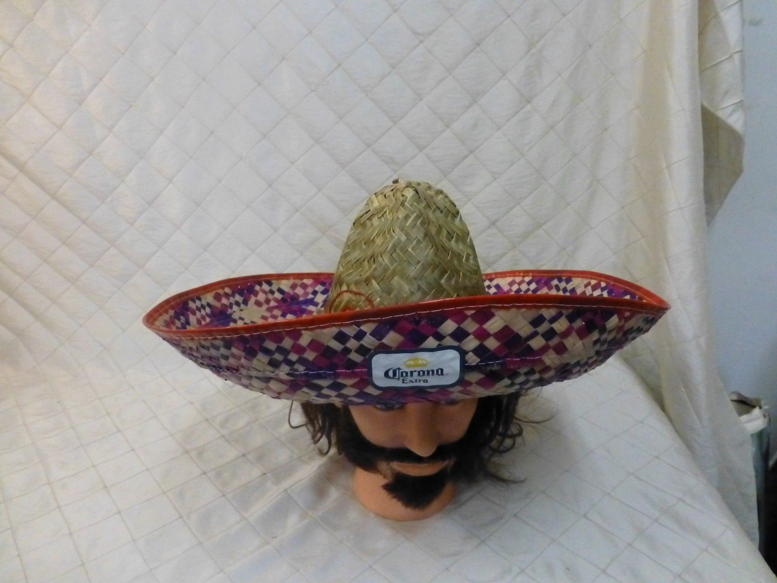 cd8e0cfb2f1 Vintage 90s Corona Extra Straw Hat Sombrero and 50 similar items