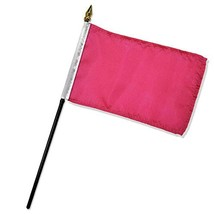 ALBATROS Pack of 12 Solid Magenta 4 inch x 6 inch with Stick for Desk Ta... - $26.74