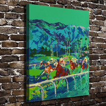 "Leroy Neiman ""Horse Racing"" HD Print on canvas large wall picture 30x24"" - $48.51"