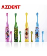 AZDENT® Cartoon Pattern Kids Sonic Electric Toothbrush Soft Double-sided... - $7.34