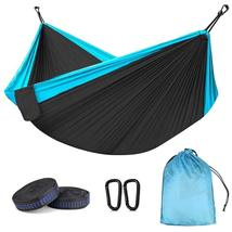 Portable Camping Hammock Double & Single Lightweight Nylon Parachute Tra... - $21.00