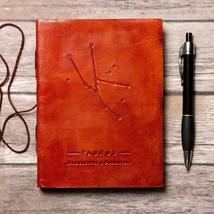 Taurus Zodiac Handmade Leather Journal - $43.00
