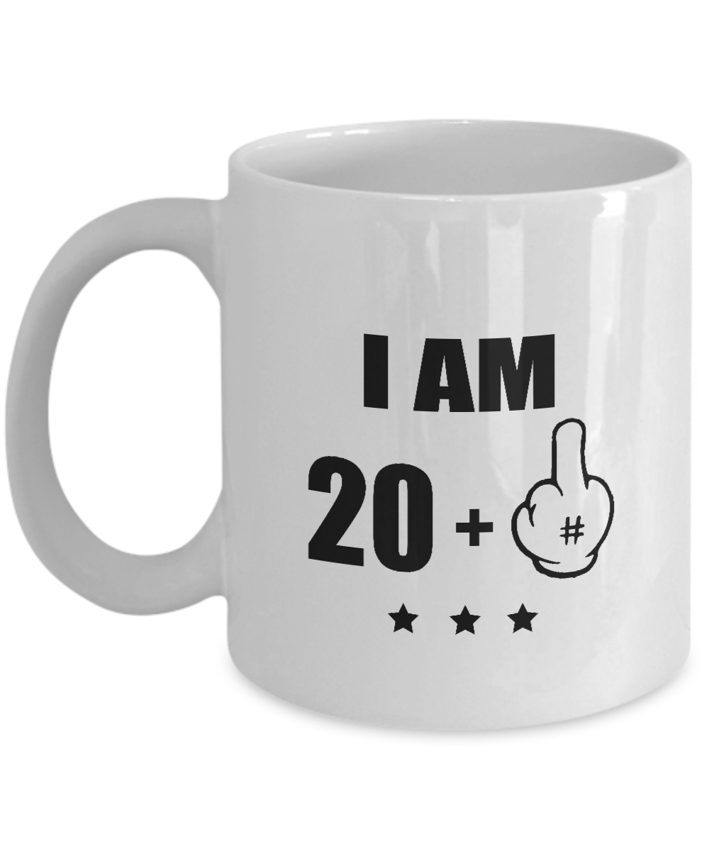 Funny Birthday Mugs - 21 Birthday Mug - I Am 20 + 1 Years Old - Awesome Coffee M