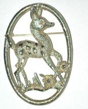 Vintage Deer/Bambi/animal/fawn Pin/Brooch gold-tone signed Sarah Cov - $10.00