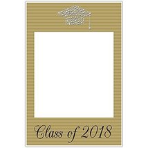 Class of 2018 Graduation Diamond Hat Gold Social Media Selfie Frame Poster - $305,77 MXN