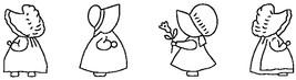 "Sten Source Quilt Stencils By Bobbie Smith-5"" Sunbonnet Sue - Large 6""X18"" - $6.42"