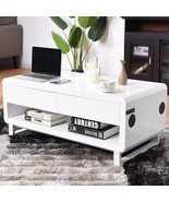 Modern Coffee Table with Bluetooth Speakers - $297.64
