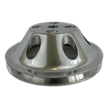 Chevy Small Block Single-Groove Aluminum Long Water Pump Pulley