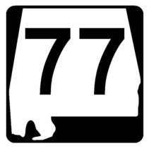 Alabama State Route 77 Sticker R4477 Highway Sign Road Sign Decal - $1.94 CAD+