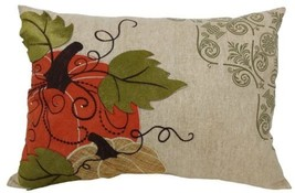Xia Home Fashions Pumpkin Embroidered Polyester with Suede Accents Fall... - $60.39