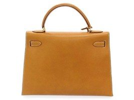 HERMES Kelly 32 Sellier Pig Leather Gold #Y Handbag France Authentic 5512232 - $5,333.37