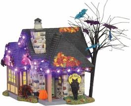 Department 56 Snow Village Halloween The Bat House Lit Building, 9 inch NEW - $162.44