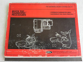 1981 Ford Electronic Engine Controls Quick Test Diagnostic Procedures Ma... - $8.92