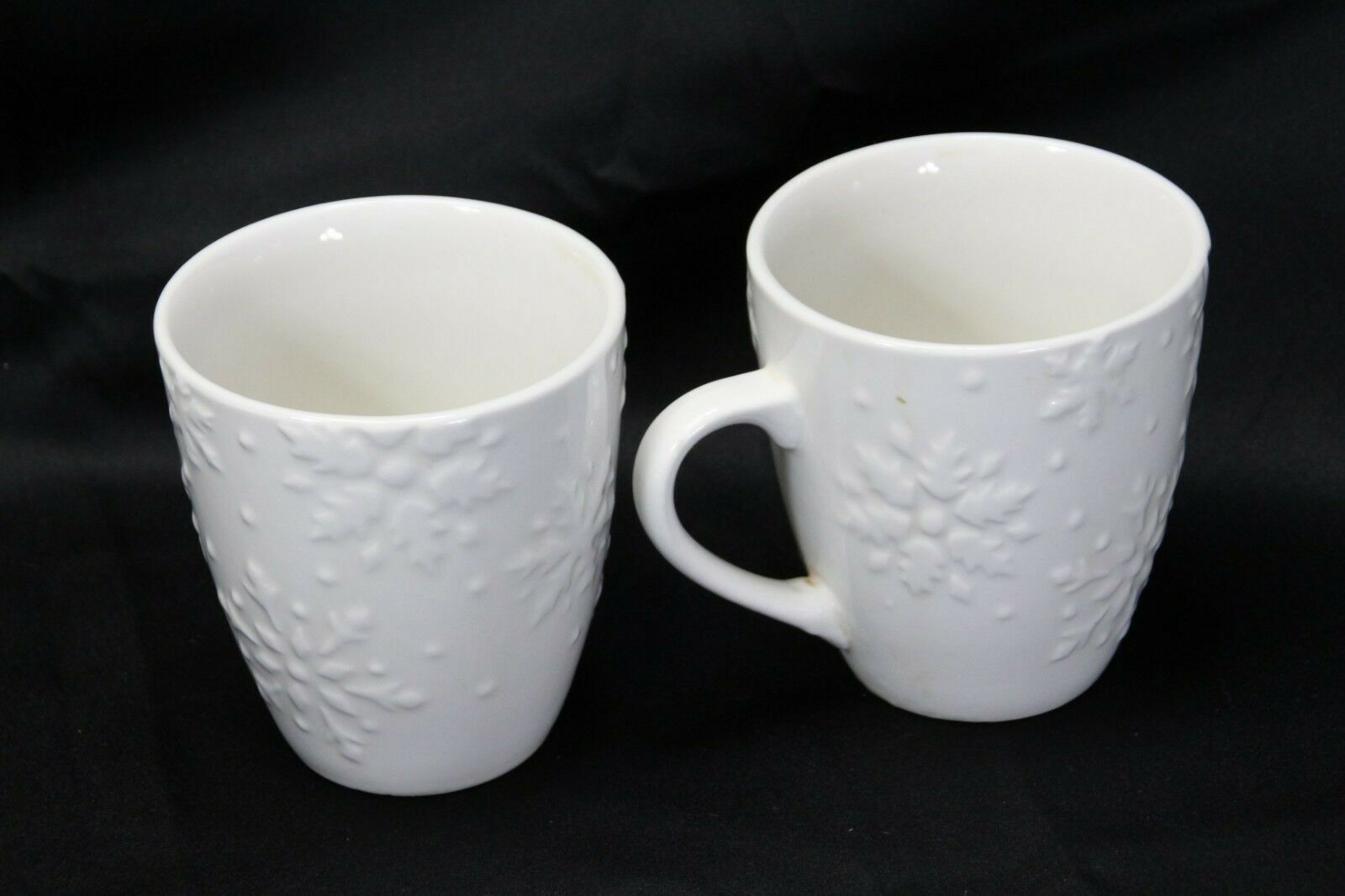 """Snowflakes by Thomson Mugs Large 4"""" Lot of 6 image 3"""