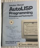 Autolisp Programming, Solution Manual (Paperback) 9780870069437 - $300.00