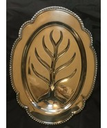 Vintage Wallace Meat Platter Serving Tray With Well Silver Plated M601 - $43.38