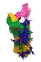 "C18 * Deluxe Custom ""Rainbow / Pink Top Bird""  Sock Puppet * Custom Made - $10.00"