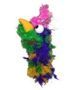 "C18 * Deluxe Custom ""Rainbow / Pink Top Bird""  Sock Puppet * Custom Made - $10.00"