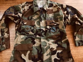 U.S. Air Force Camouflage Camo Jacket Shirt  Mobility Command 126 th Ref... - $23.74