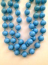 Vintage Ladies Blue Bauble Bead Necklace #24 - $49.99