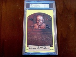 LARRY MACPHAIL NEW YORK YANKEE PRESIDENT HOF SIGNED AUTO VTG CUT GRADED ... - $989.99