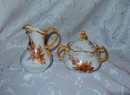 Vintage Nadian Victorian Style Creamer & Sugar Bowl Set...Japan - $10.89