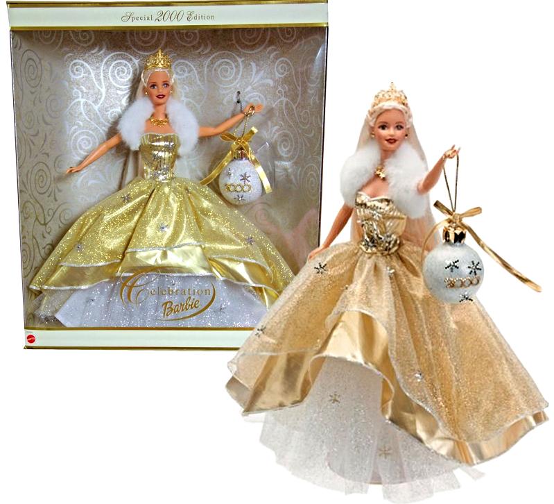 Celebration Barbie 2000 and Millennium Princess Barbie [Brand New] - $43.59