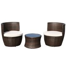 3 pcs Patio Rattan Stackable Furniture Set - $307.48