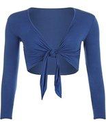Momo&Ayat Fashions Ladies Long Sleeve Tie Up Cropped Shrug US Size 6-12 ... - $9.02