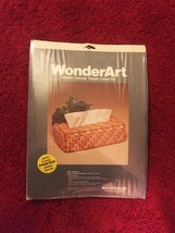 Vintage 70s WonderArt Plastic Canvas Tissue Cover Kit #6003 - by Needlecraft