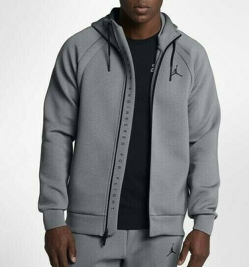 Primary image for Nike Men's Flight Tech Fleece Full-Zip Hoodie NEW AUTHENTIC DK Grey 879497-091