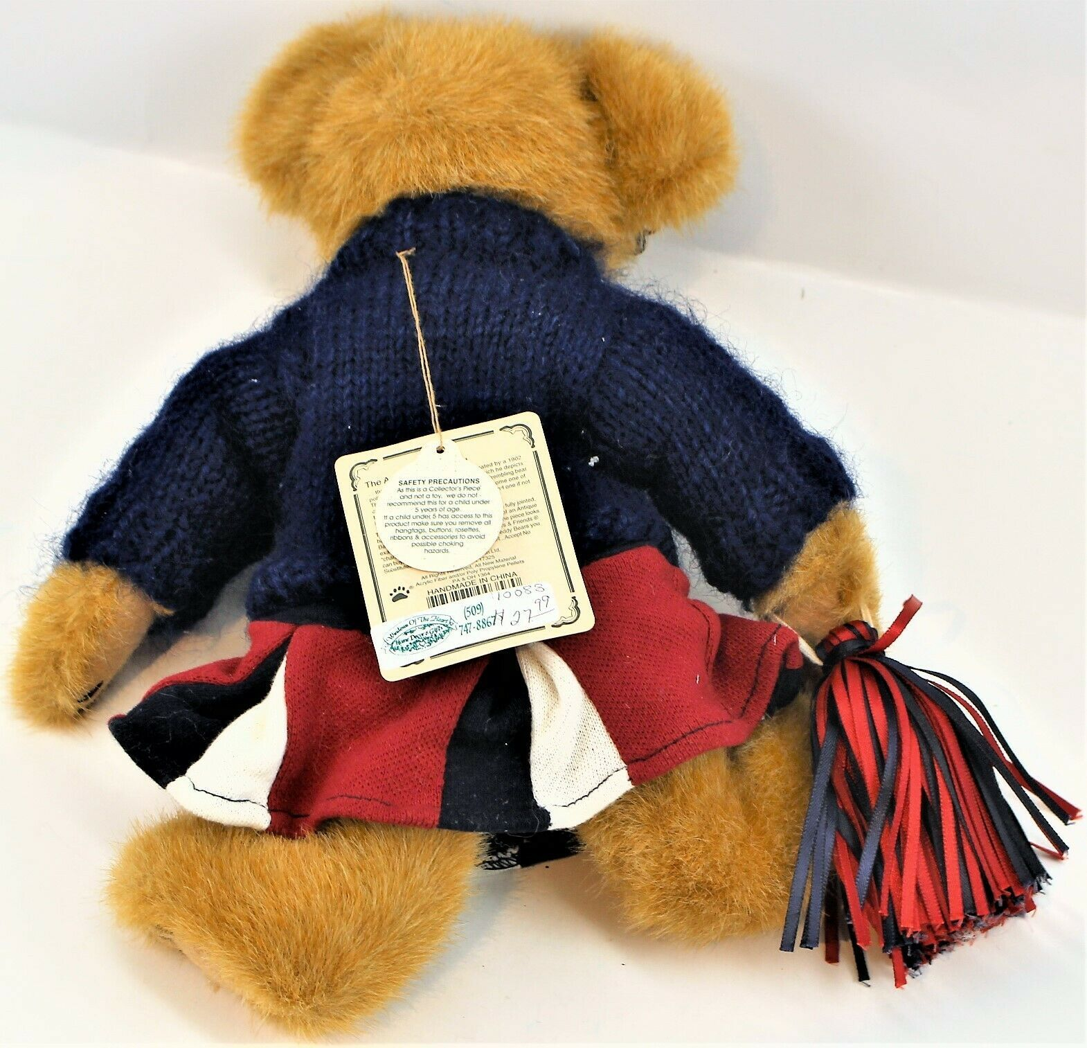 Boyds Bears Plush Tami P. Rally Plush Cheerleader Bear School Collection image 5