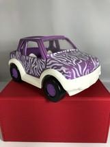 "2001 Origin Mattel Polly Pocket Purple Zebra 6"" Jeep Car Toy - $10.68"