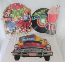 Beistle Die Cut Diner Wall Decor, 1988 Drive In, At The Hop, Sweet Sixteen - $26.00