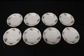 """8 Pc Tienshan Fine China GABRIELLES CHRISTMAS 5.75"""" Saucers w/Gold Angel... - $39.99"""