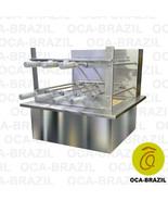 Brazilian BBQ Charcoal Grill with Firebox - 7 Skewers - Oca-Brazil - $1,358.00